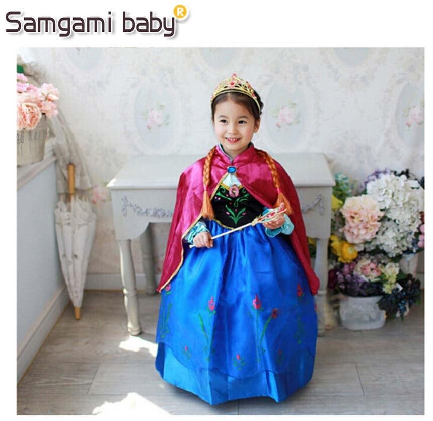 0c4836777 SAMGAMI bebé Año Nuevo niñas Anna Elsa Cenicienta vestidos niños ropa de  bebé niño disfraz ...
