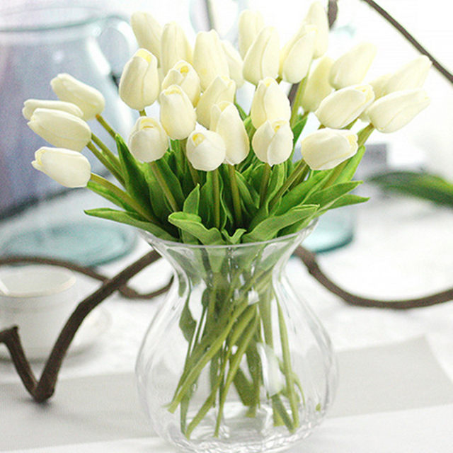 Online shop 20 pieceslot artificial tulip flower pu artificia 20 pieceslot artificial tulip flower pu artificia flower bouquet real touch flowers home wedding decorative flowers junglespirit Gallery