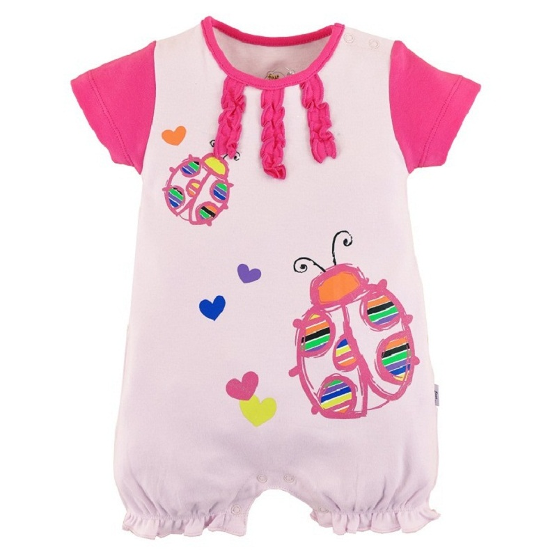5524aca7112d Summer style baby girls boys romper striped and letter baby clothes ...