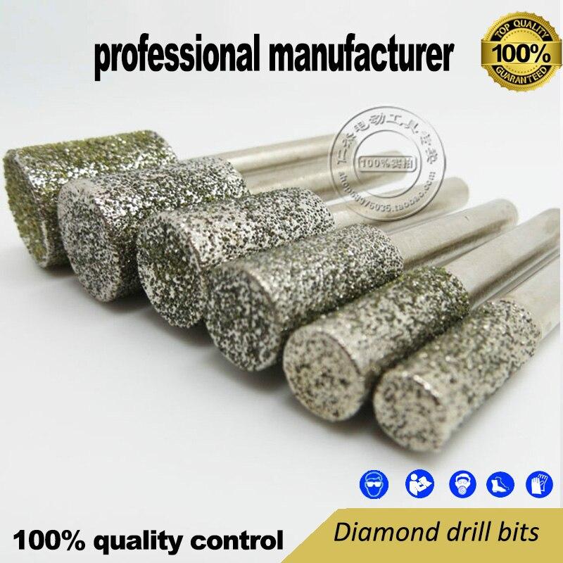exportkwaliteit voor mini-slijpgereedschap 6-delige slijpkit gemaakt van 46 # diamant en 6 mm schacht tegen een goede prijs voor thuisgebruik