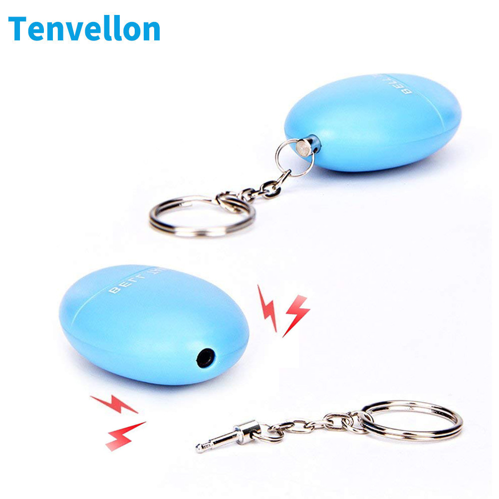 Tenvellon Self Defense Alarm Personal Safety Security Protection Small Size Colorful Emergency Self-defense Mini Keychain Alarm