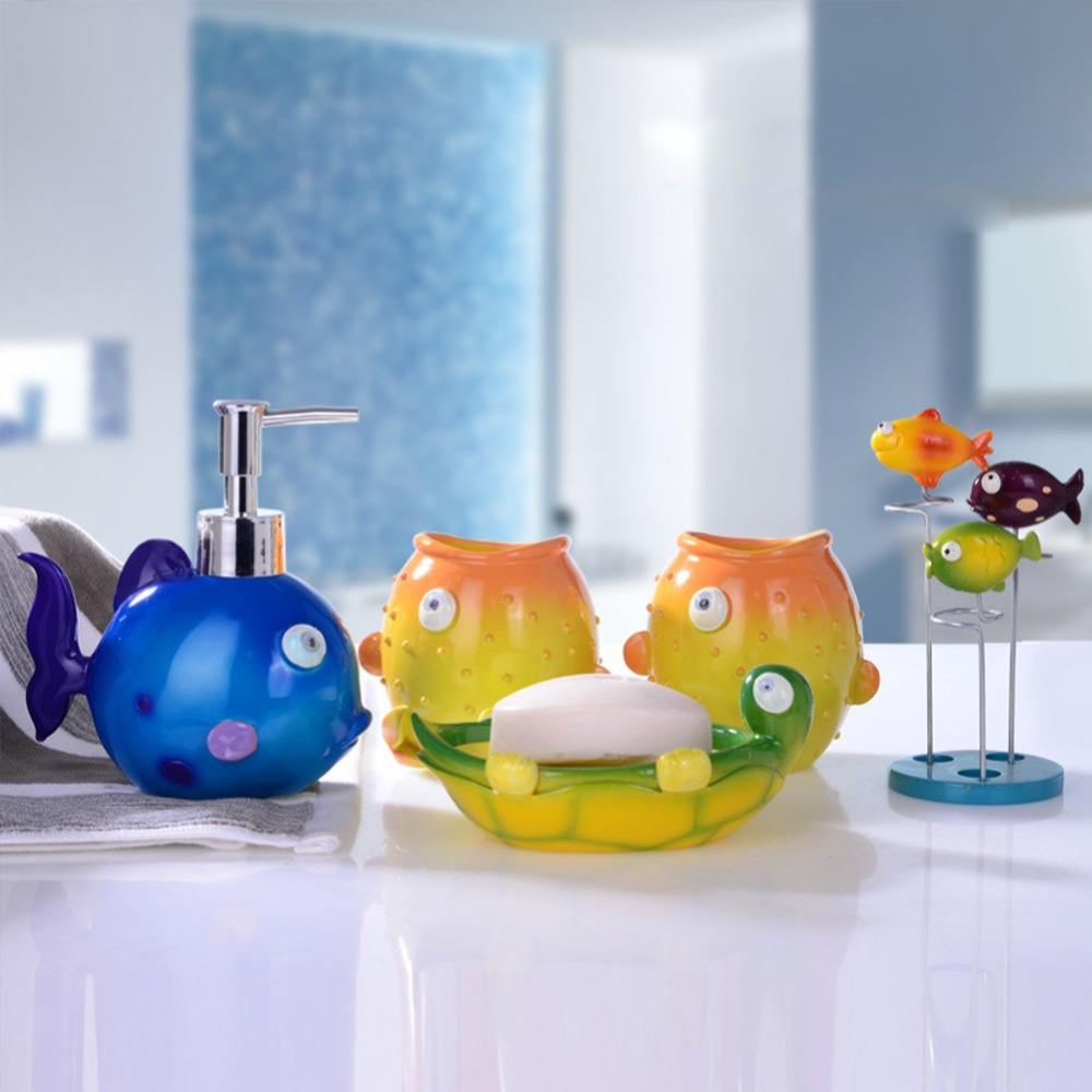 Bathroom Fish Decor Fish Bathroom Accessories Bathroom