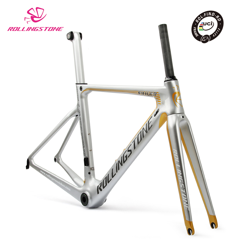 Rolling Stone UCI Bicycle Frame Carbon Road Bike Aero Frameset FINDER 700C 47cm Racing Toray T800 Ultralight