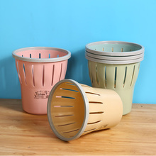 1PCS Plastic Household Trash Can Creative Garbage Basket Without Cover Home Desk Trash Can Bathroom Kitchen Waste Bin Basket цена и фото