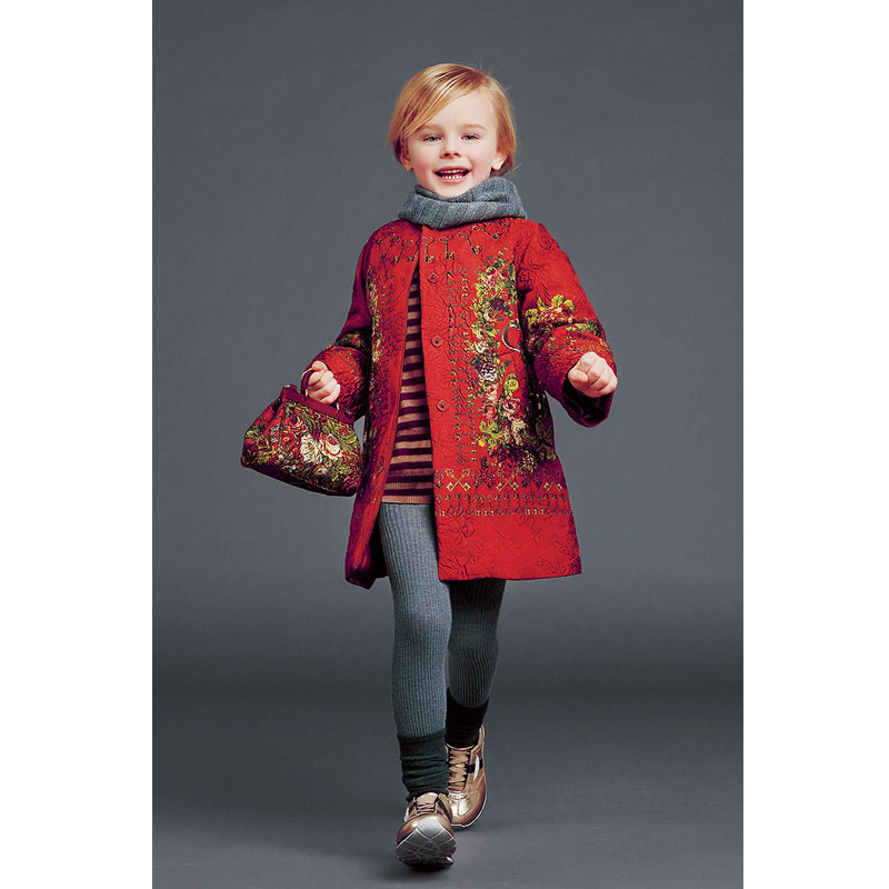 Fashion Red Girls Cardigan Printing Child Winter Coats Festival Christmas Pajamas Brand Christmas Girl Clothing