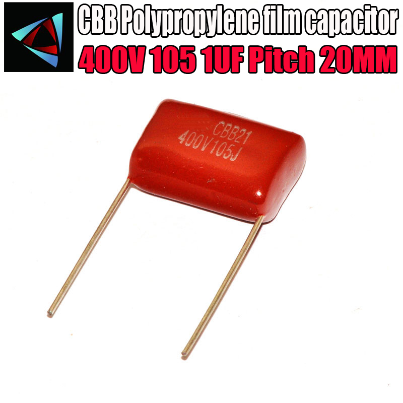 8PCS 400V 105 1UF Pitch 20MM 400V 105 1000NF CBB Polypropylene Film Capacitor
