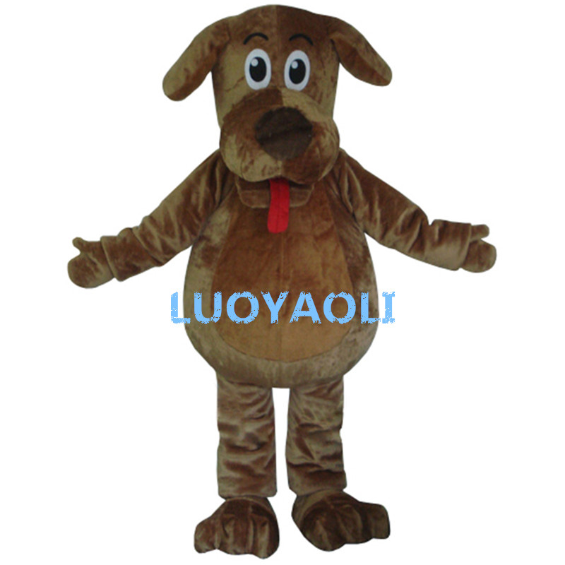 High Quality Cartoon Mascot Costume Wags The Dog Mascot Costumes Fluffy Fur Wags Mascot Costumes
