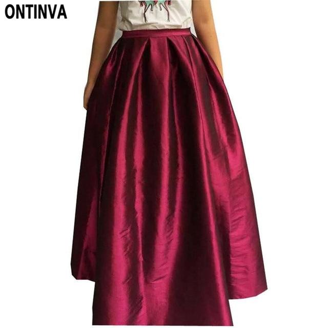 Aliexpress.com : Buy Maxi Long Skirt Floor Length Ladies High ...