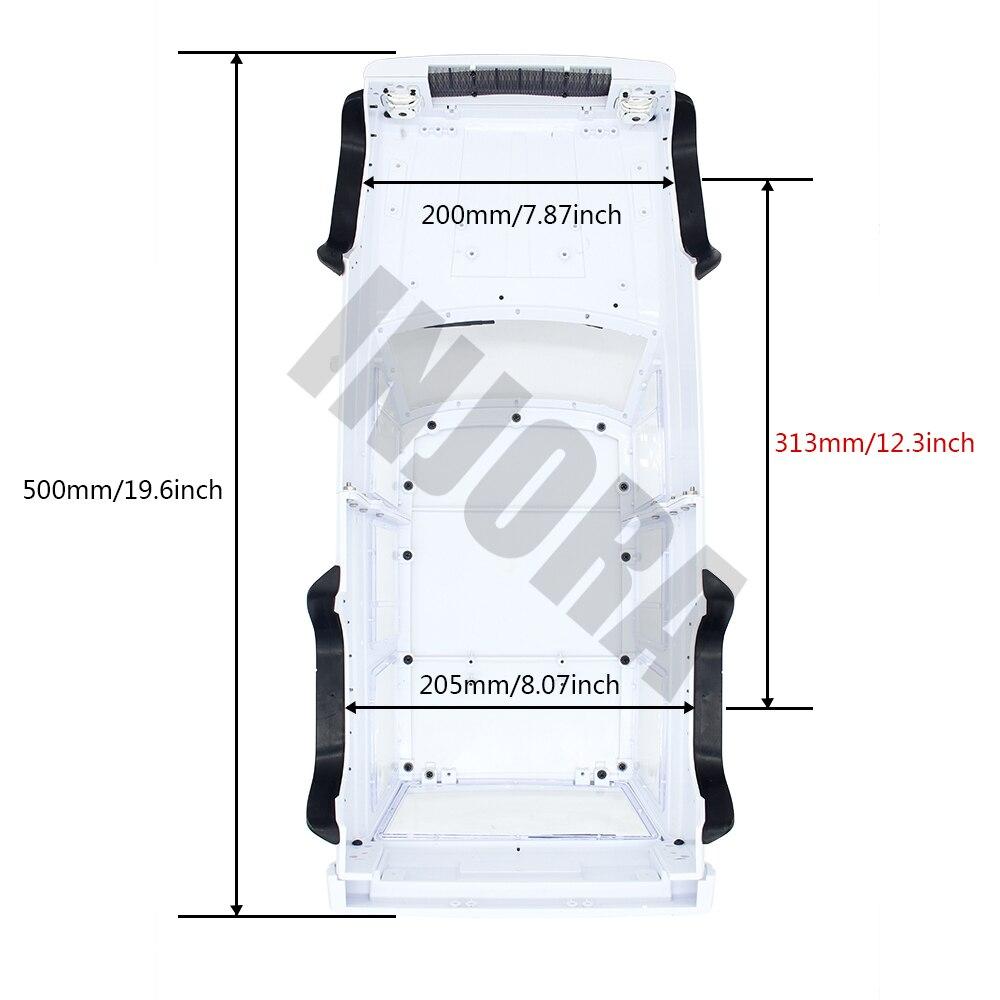 INJORA Hard Plastic 12.3inch 313mm Wheelbase Cherokee Body Car Shell for 1/10 RC Crawler Axial SCX10 & SCX10 II 90046 90047