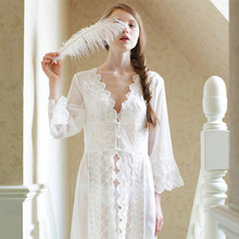 Lace cardigan sexy chiffon sleepwear perspective sexy Princess Nightgown Vintage Princess Sleepwear AW296
