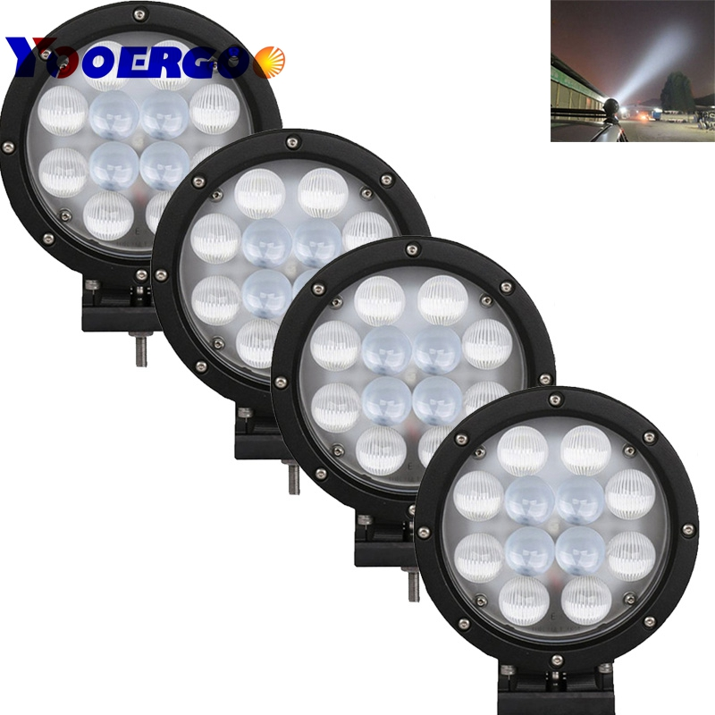 pair spot light IP 67 60W 6000K 12v 7 inch Round Off road led Work light fog lamp for Car 4x4 4WD AWD SUV ATV Tractor Truck