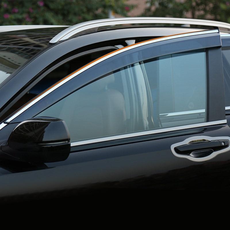 For HONDA CRV 2017 2018 2019 Window Visor Vent Shade Rain/Sun/Wind Guard Deflectors 4pcs/setFor HONDA CRV 2017 2018 2019 Window Visor Vent Shade Rain/Sun/Wind Guard Deflectors 4pcs/set