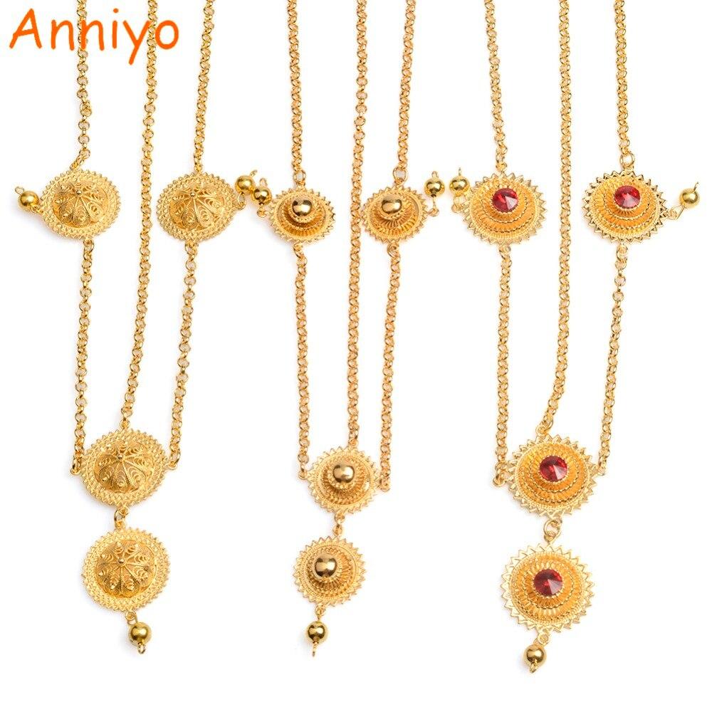 Anniyo (One Piece) Forehead Pieces Ethiopian Hair Piece Jewelry Habesha Eritrean Head Piece Chain Holiday Gifts #0032161