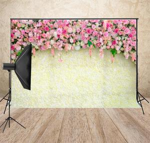 Best Price Yellow Flower Wall Backdrop Wedding Photography Backdrop Photo Background  Baby Bridal Shower Back Drop For Wedding XT-7329