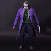 1/6 Batman Joker the Dark Knig Purple Brand New Suit Clothes Sets Models for 12 Inches Male Man Action Figure Without Head Body