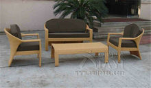 4-pcs PE new design rattan patio furntiure Pastoralism Home Indoor / Outdoor Rattan Sofa For Living Room