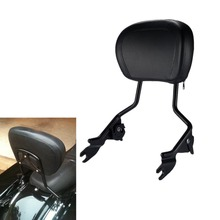 Motorcycle Detachables Upright Backrest Pad Sissy Bar For Harley Touring Road King Street Glide Electra Ultra 2009-2018