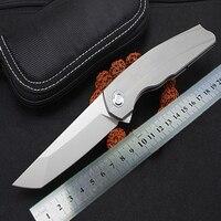 KESIWO RFT folding blade knife m390 blade tactical hunting pocket knives flipper survival titanium handle portable EDC knifes