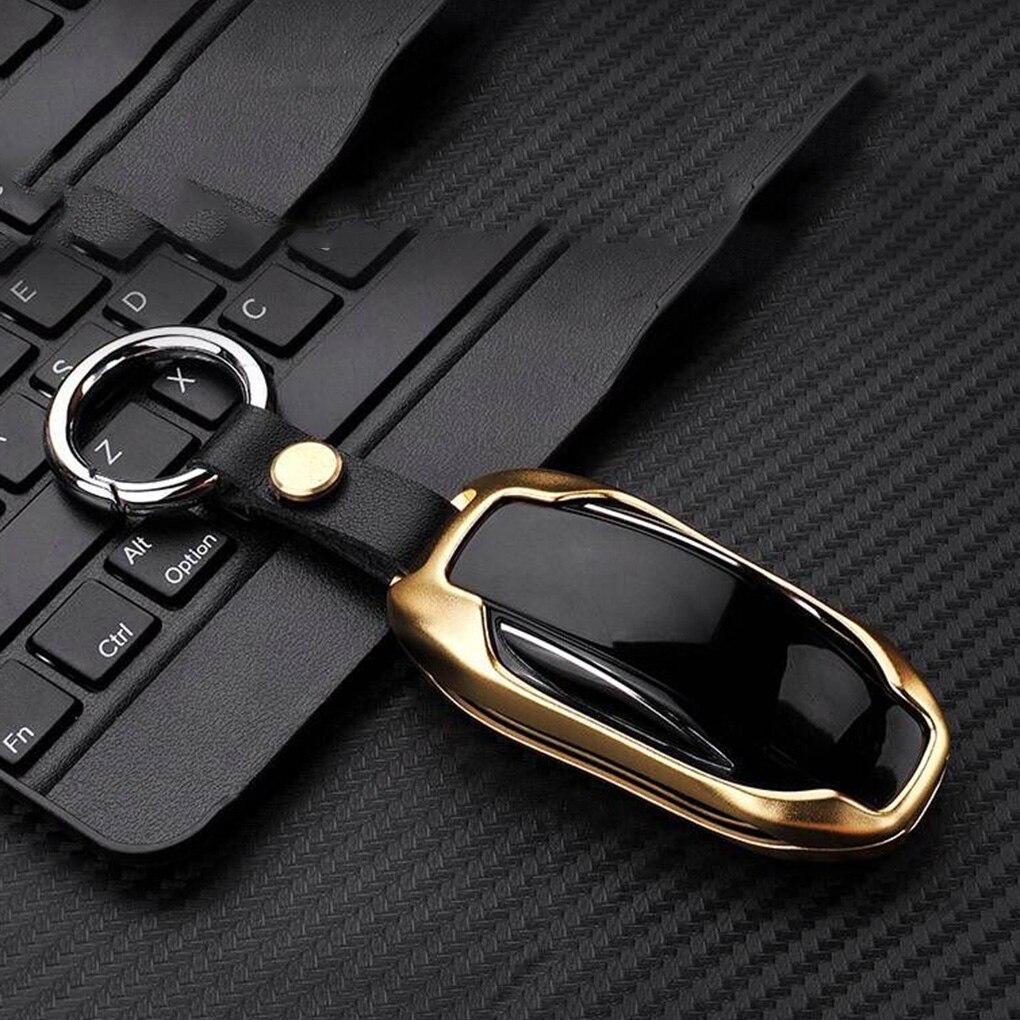 Алюминий сплав Ключи сумка чехол Ключи В виде ракушки протектор для Тесла модели X