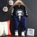 Fall 2016 new boy cartoon leisure long-sleeved blouse boom fleece free shipping