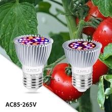 Led Grow Bulb E27 220V Full Spectrum Led Plant Lamp E14 Indoor Flower Seedling Growing Light 18W 28W Kweektent Fitolamp 85-265V 28w