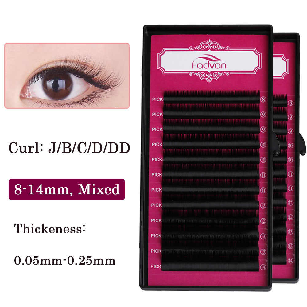 f3a5a092293 Fadvan Eyelashes Synthetic Slik Lashes Long Lasting Make Up Tool Eye Lashes  for Women's Fashion Natural