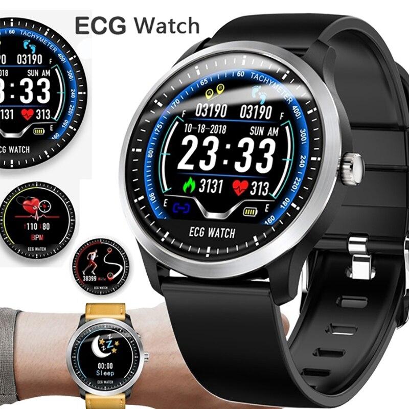 ECG PPG Smart Watch Bracelet With Electrocardiograph ECG Display, Fitness Heart Rate Monitor Blood Pressure Men Women Smartwatch