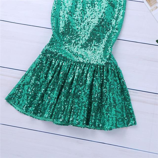 Faldas de fiesta de sirena verde para niños y niñas, falda de disfraz de sirena de halloween con cola de sirena, traje de cola de sirena para cumpleaños