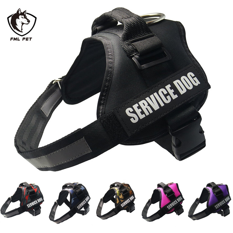 Fml Pet Harnesses For Dogs Reflective Collar For Dogs Pet Accessories Adjustable Dog Harness For Large Dog Harness Vest