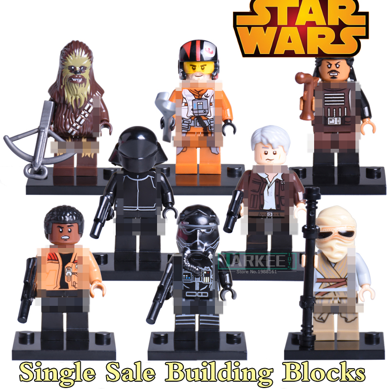 Building Blocks Bricks Model Star Wars 7 Black Stormtroopers Darth Vader The Fighter Rey Tasu Leech Kids DIY Toys Hobbies Gifts building blocks agent uma thurman peeta dc marvel super hero star wars action bricks dolls kids diy toys hobbies kl069 figures
