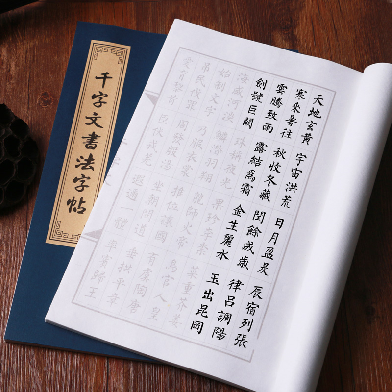 Thousand-Character Classic Learn Quickly Trace The Copybook Calligraphy Chinese Character Practice Small Rregular Script