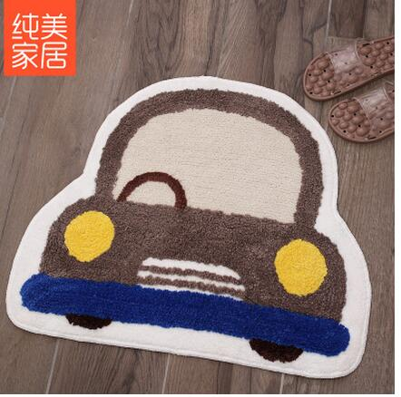 Cute carton Car Floor MATS Kitchen Carpet Toilet Tapete Water Absorption Non-slip Rugs Porch Doormat Para Quarto Casa ...