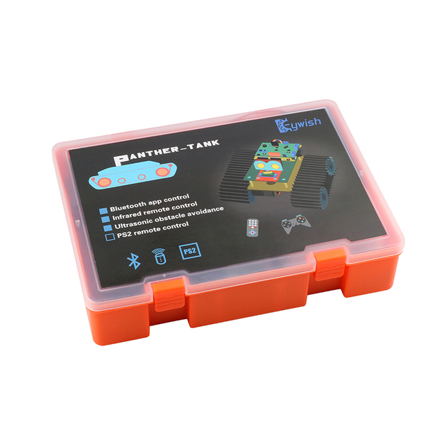 Keywish Tank Robot for Arduino UNO R3 Smart Cars Kit APP RC Remote Control Ultrasonic Bluetooth Module Stem Toys for Children