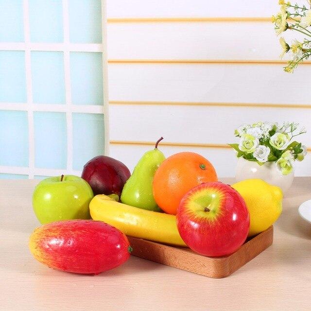 W 8 шт./компл. Пластиковые Фрукты Кухня Искусственный Поддельные Продукты Питания Дисплей Главная Партия Декор Ремесло Lifelike