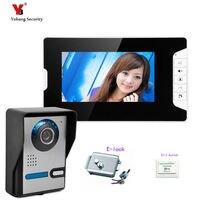 Yobang Security 7 Inch Screen Video Record Door Phone Intercom System Doorbell IR Camera Intercom Door bell+Electric lock