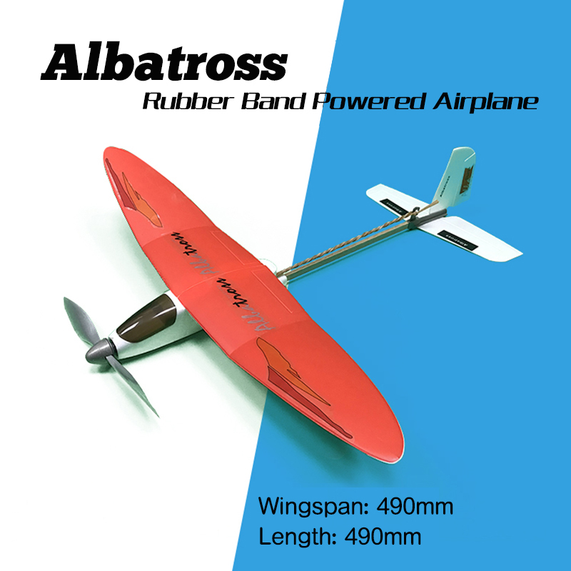 Free Shipping Albatross Rubber Powered Plane DIY Assembly airplane model puzzle children gift Educational Toy themore thecheaper кошелек albatross