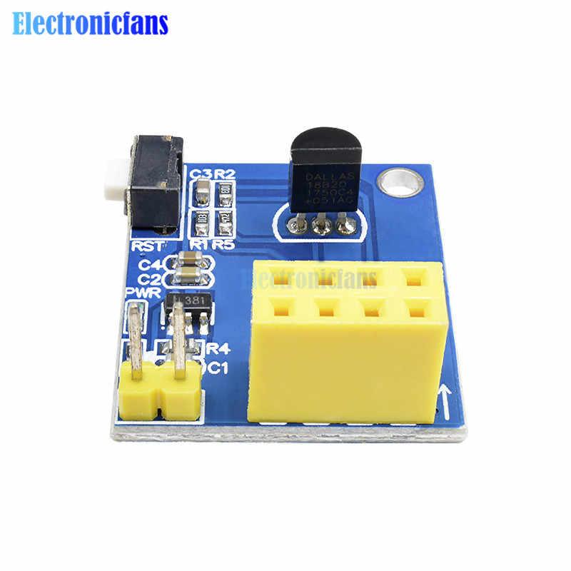 ESP8266 ESP-01 ESP-01S DS18B20 อุณหภูมิความชื้นเซนเซอร์โมดูล ESP 8266 WiFi NodeMcu Smart Home IOT DIY ชุด