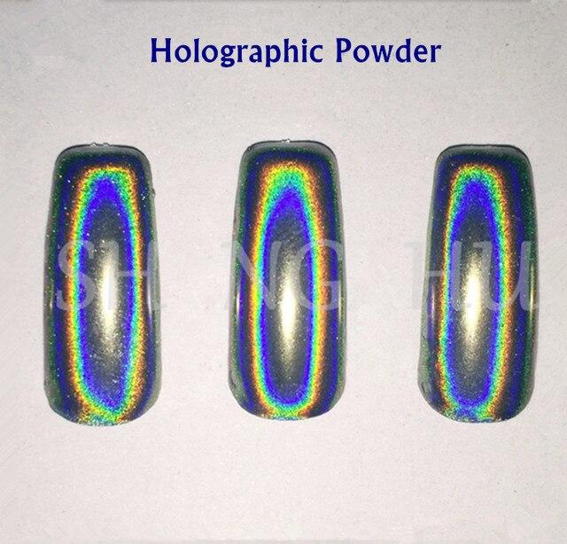 1g Polvo Holográfico Nail Espejo Cromo En Polvo Polvo de Uñas ...