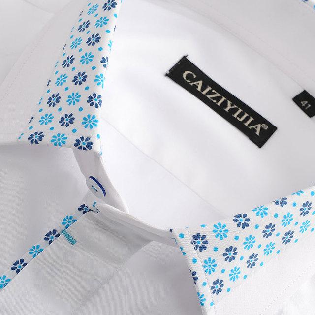 Men's Floral Pattern Cotton Shirt