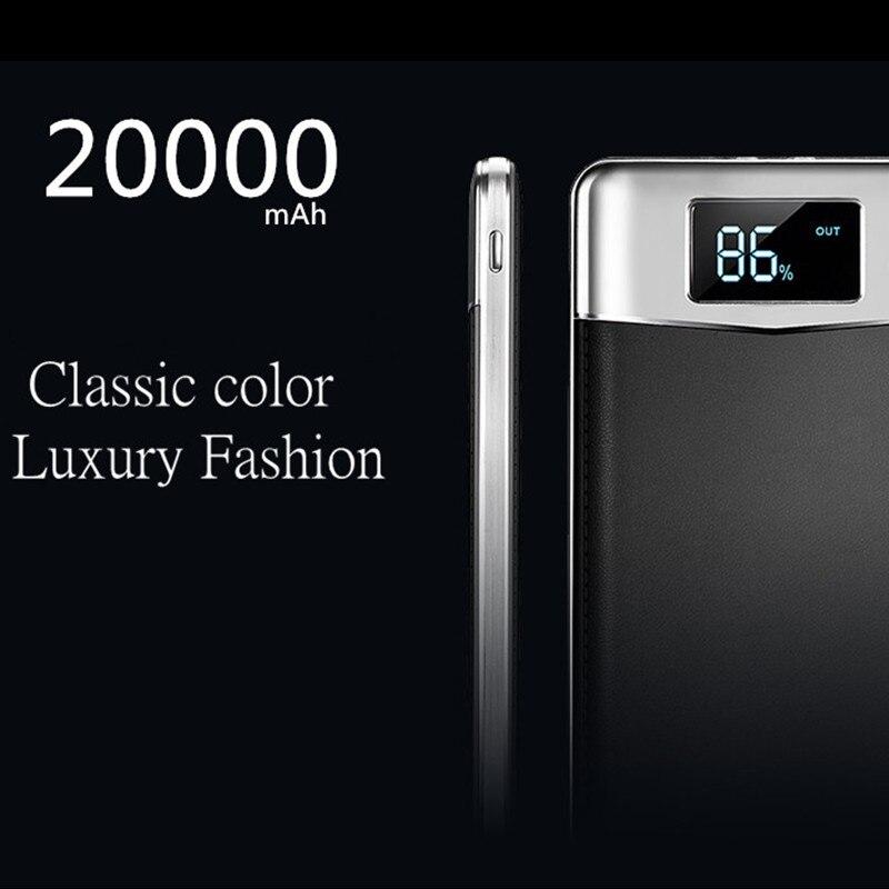 20000 mah Dual USB Power Bank Handy Ladegerät Externe Batterie Tragbare Ladegerät Power Bank Für iPhone Xiaomi 20000 Power