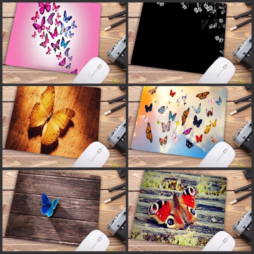 Mairuige Big Promotion Butterfly Landscape Mouse Pad Small Size Rectangular Washable For Home Desktop Computer Office Laptop Mat