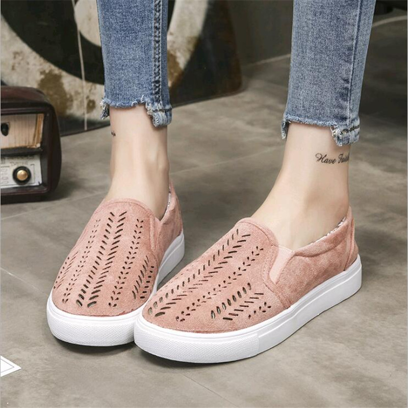 Women Breathing Flats 2018 New Spring Fashion Flats Women Causal Shoes with Soft Bottom Women Shoes