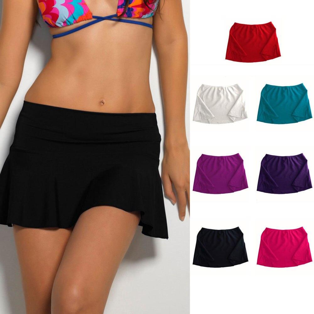 New Hot Sale Women Summer Bikini Bottom Tankini Swim Short Skirt Swimwear Cover Up Beach Dress