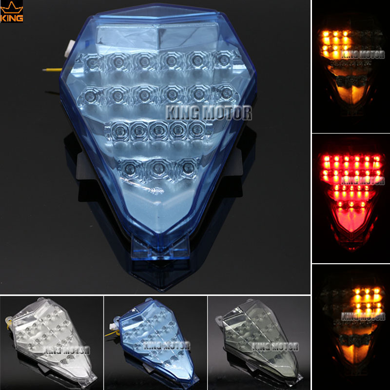 For YAMAHA YZF R6 YZF-R6 2006-2007 Motorcycle Accessories Integrated LED Tail Light Turn signal Blinker Blue