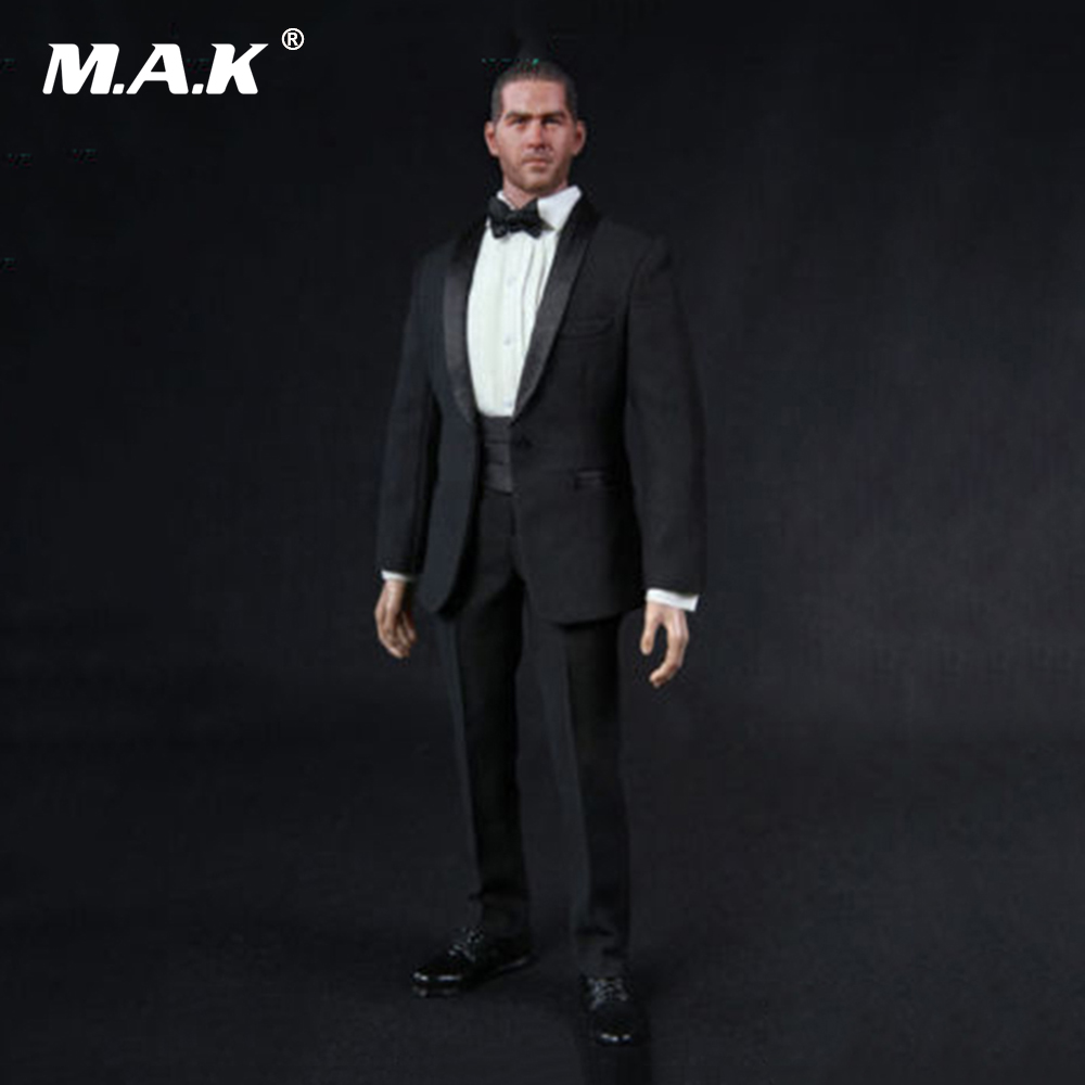 1/6 Scale Gentleman Clothes Suit TC 62016 Black Men Suits Set Clothes Models Fit For 12 Man Body Figure