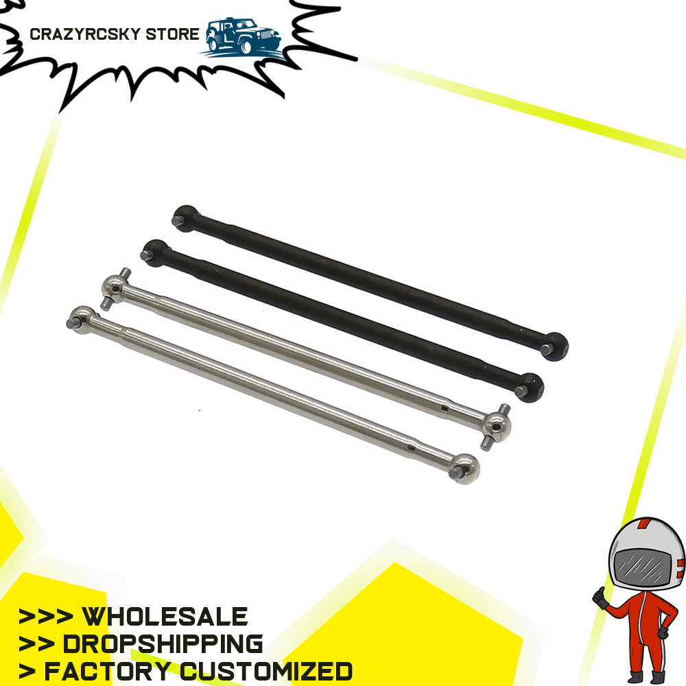RCAWD Silver #45 Steel Black Iron New Heavy Duty Drive Shaft Dogbone For 1/10 Rc Car Hpi Bullet 3.0 Flux Mt/St BMT0023