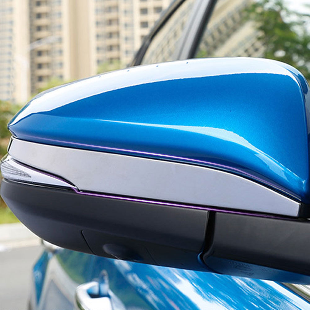 2PCS Stainless Steel Rearview Side Mirror Cover Trim for Toyota RAV4 2014-2017