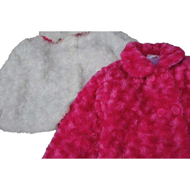 594df5e0020f Children Outerwear Baby Girls Fur Coat Winter Jacket White Red ...