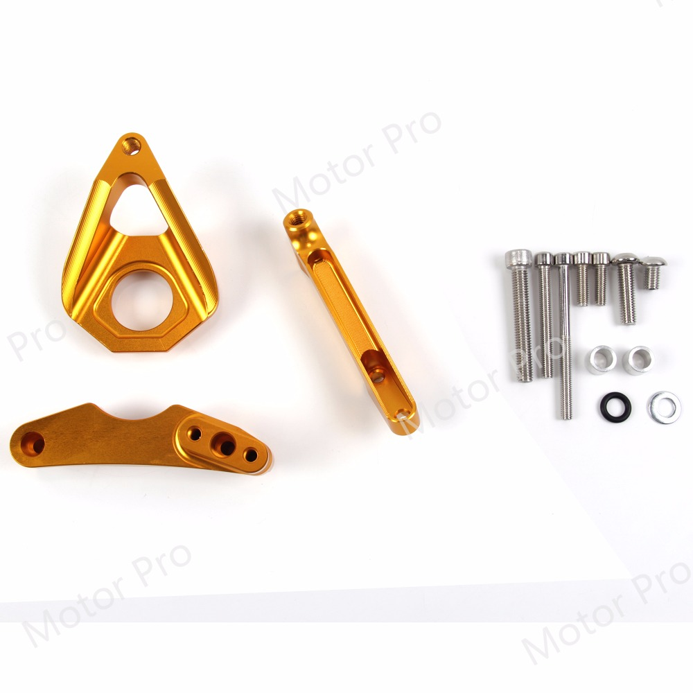 For Suzuki GSR 750 2001 - 2005 Steering Damper Stabilizer Bracket GSR750 01 2002 2003 2004 05 GSXR GSX-R GSX R 600 750 GOLD motorcycle front brake disc rotor for suzuki gsx 600 f 1989 1990 gsx 750 f katana 1998 1999 2000 2001 2002 2003 gold