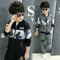 2016 New Spring Autumn Boys Jacket Sports Suit Two Piece & 4-12 Age Boy Clothes  baby boy suit   teenage boy winter kids jacket